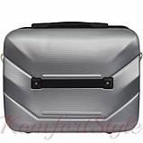 Комплект чемодан и кейс Bonro 2019 большой серебряный (10501202), фото 6