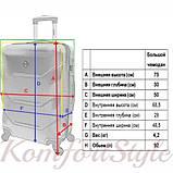 Комплект чемодан и кейс Bonro 2019 большой серебряный (10501202), фото 8