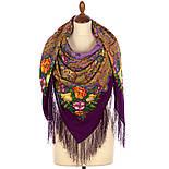 Летнее чудо 1885-15, павлопосадский платок шерстяной  с шелковой бахромой, фото 2
