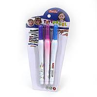 MD-701 Набор гель. ручек для тату 3шт.  №1771 краска для тату