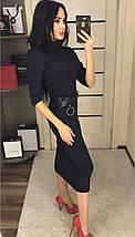 Платье ниже колен с напылением /разные цвета, 42-46, ft-2016/, фото 2