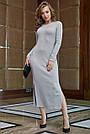 Молодёжное платье женское р. от 42 до 48, вязка ангора, серое, фото 4