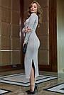 Молодёжное платье женское р. от 42 до 48, вязка ангора, серое, фото 5