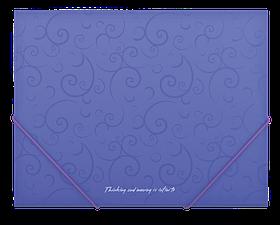 Папка пласт. А5 на гумках, BAROCCO, фіолетовий