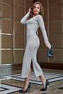Молодёжное платье женское р. от 42 до 48, вязка ангора, серое, фото 6
