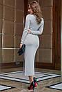 Молодёжное платье женское р. от 42 до 48, вязка ангора, серое, фото 7