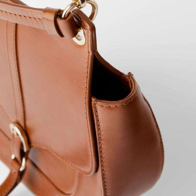 Женская кожаная сумка через плечо Zara