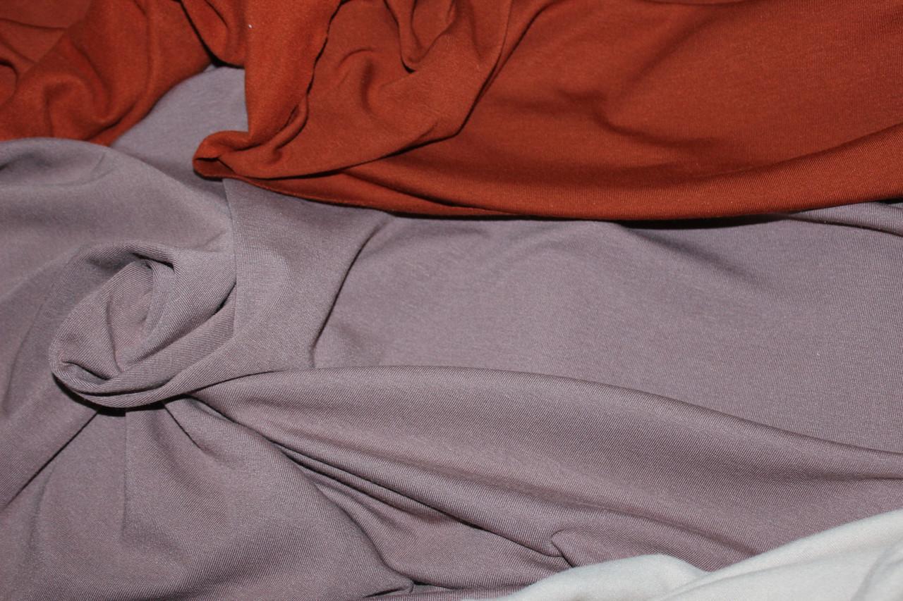 С начесом.  Ткань вискоза трикотажная стрейчевая, мокко ( теплые водолазки) (1,50м), фото 1