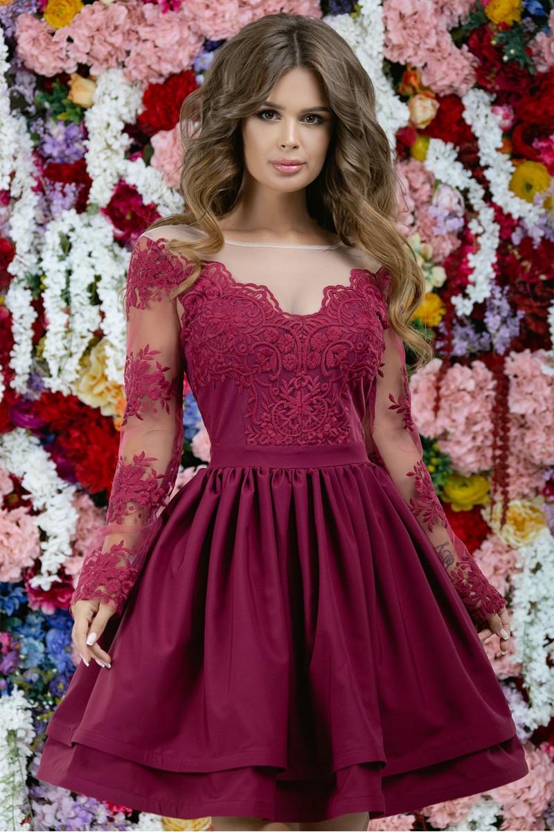 Нарядное бордовое платье 42,44,46