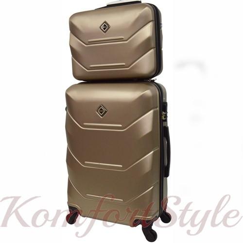 Комплект чемодан и кейс Bonro 2019 большой шампань (10501208)