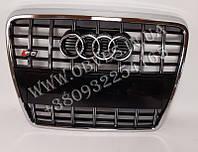 Решетка радиатора Audi A6 C6 2005-2011 в стиле Audi S6 (черная с хром окантовкой)