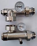 Сгоны для насоса с подключением к коллектору с термометрами, боковое подключение, фото 5