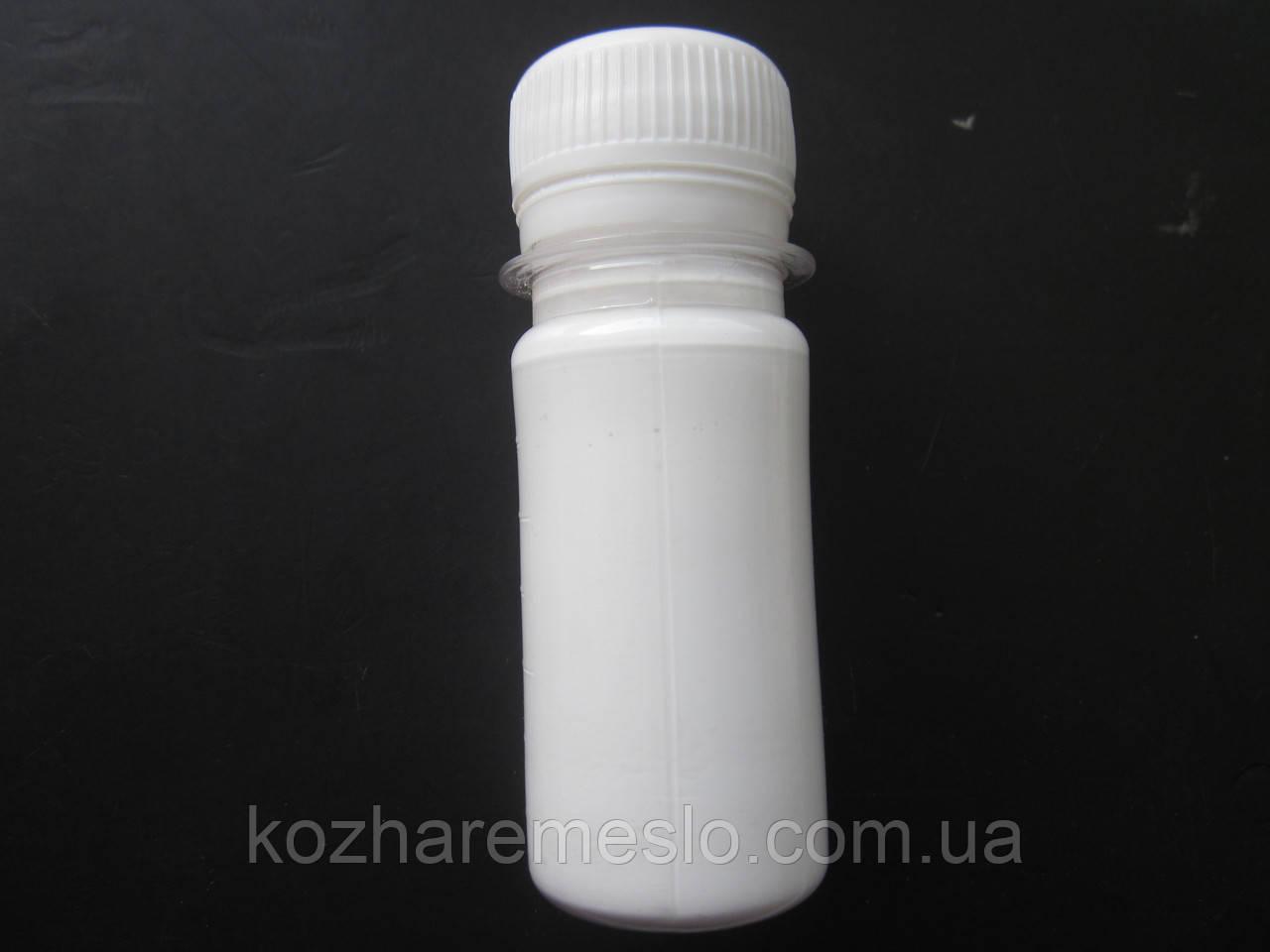 Краска для уреза (торца) кожи FENICE на силиконовой основе 50 грам белый