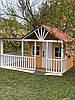 Дитячий дерев'яний будиночок на вулицю