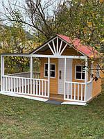 Дитячий дерев'яний будиночок на вулицю, фото 1