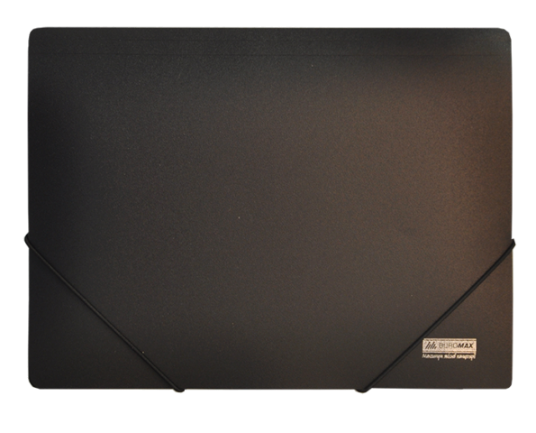 Папка пласт. А4 на гумках, JOBMAX, чорний