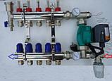 Сгоны для насоса с подключением к коллектору с термометрами, боковое подключение, фото 6