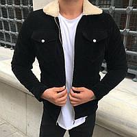 Мужская  черная курточка на меху