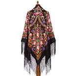 Воспоминания о лете 563-18, павлопосадский платок (шаль) из уплотненной шерсти с шелковой вязанной бахромой, фото 8