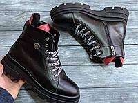 Дерзкие женские Ботинки кожаные на платформе 4 см, размеры 36-41