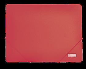 Папка пласт. А4 на гумках, JOBMAX, червоний