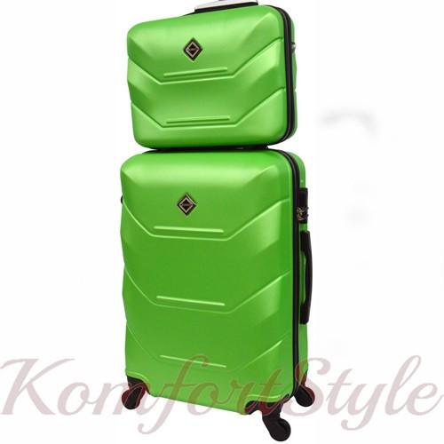 Комплект чемодан и кейс Bonro 2019 маленький  салатовый (10501005)