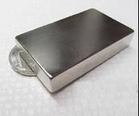 Прямоугольный неодимовый магнит50*30*10 мм, сила сцепления 35 кг, N42