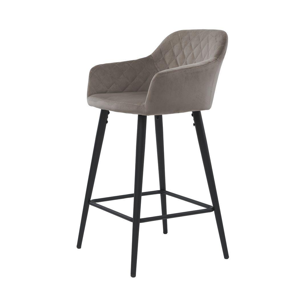 Полубарный стул велюр ANTIBA (Антиба) пудровый серый от Concepto