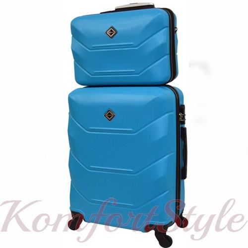 Комплект чемодан и кейс Bonro 2019 средний голубой (10501103)