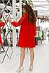 Женское платье свободного кроя Красный, фото 2