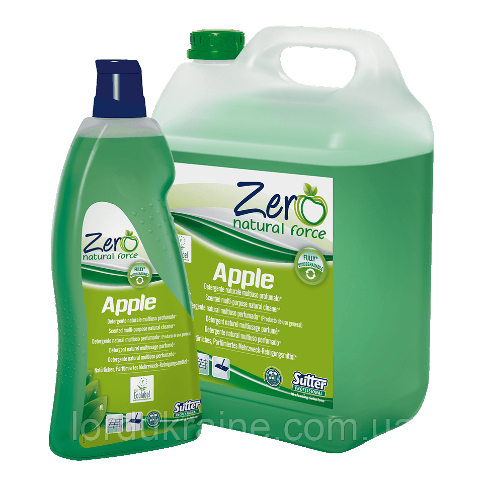 Универсальное средство для мытья полов и других твердых поверхностей APPLE ECOLABEL, 5 л.