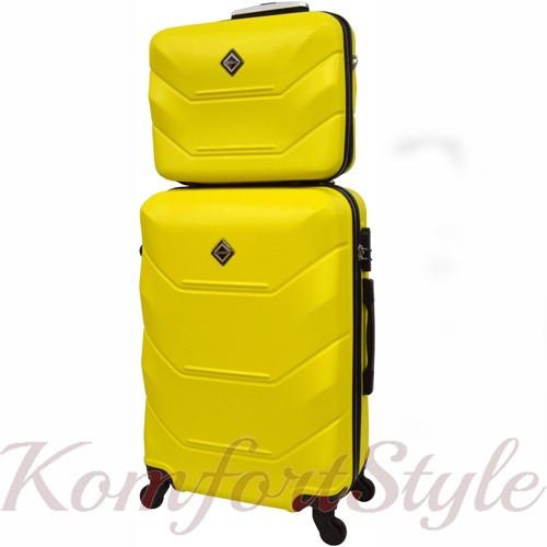 Комплект чемодан и кейс Bonro 2019 средний желтый (10501100)
