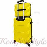 Комплект чемодан и кейс Bonro 2019 средний желтый (10501100), фото 2