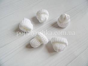 """Декор """" Шапка в""""язана"""" біла 3.5*3.5 см"""