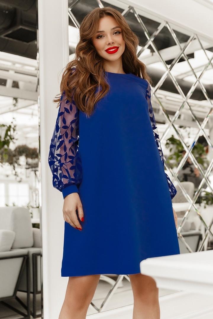Женское платье свободного кроя Синий