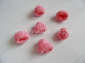 """Декор """" Шапка в""""язана"""" рожева 3.5*3.5 см"""