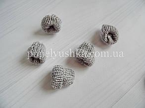 """Декор """" Шапка в""""язана"""" сіра 3.5*3.5 см"""