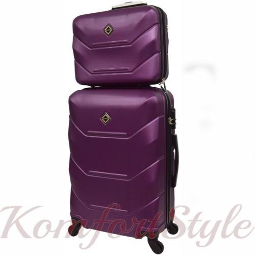 Комплект чемодан и кейс Bonro 2019 маленький  сиреневый (10501006)