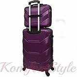 Комплект чемодан и кейс Bonro 2019 маленький  сиреневый (10501006), фото 2