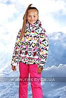 Детский лыжный костюм для девочки FREEVER 320к белый