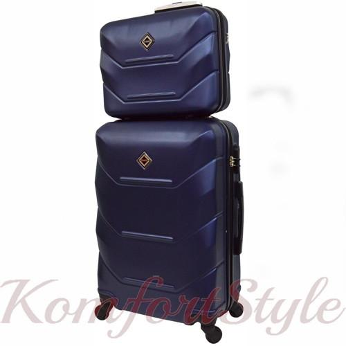 Комплект чемодан и кейс Bonro 2019 маленький  темно-синий (10501004)