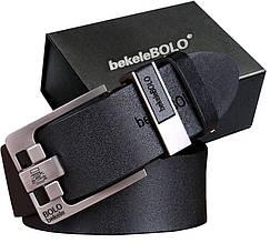 Мужской кожаный ремень 125 см Bolo Bekele с пряжкой Брючный Джинсовый (2020-2)