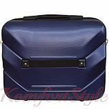Комплект чемодан и кейс Bonro 2019 маленький  темно-синий (10501004), фото 7