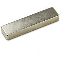 Прямоугольный неодимовый магнит50х20х5 мм, сила сцепления 14 кг, N42