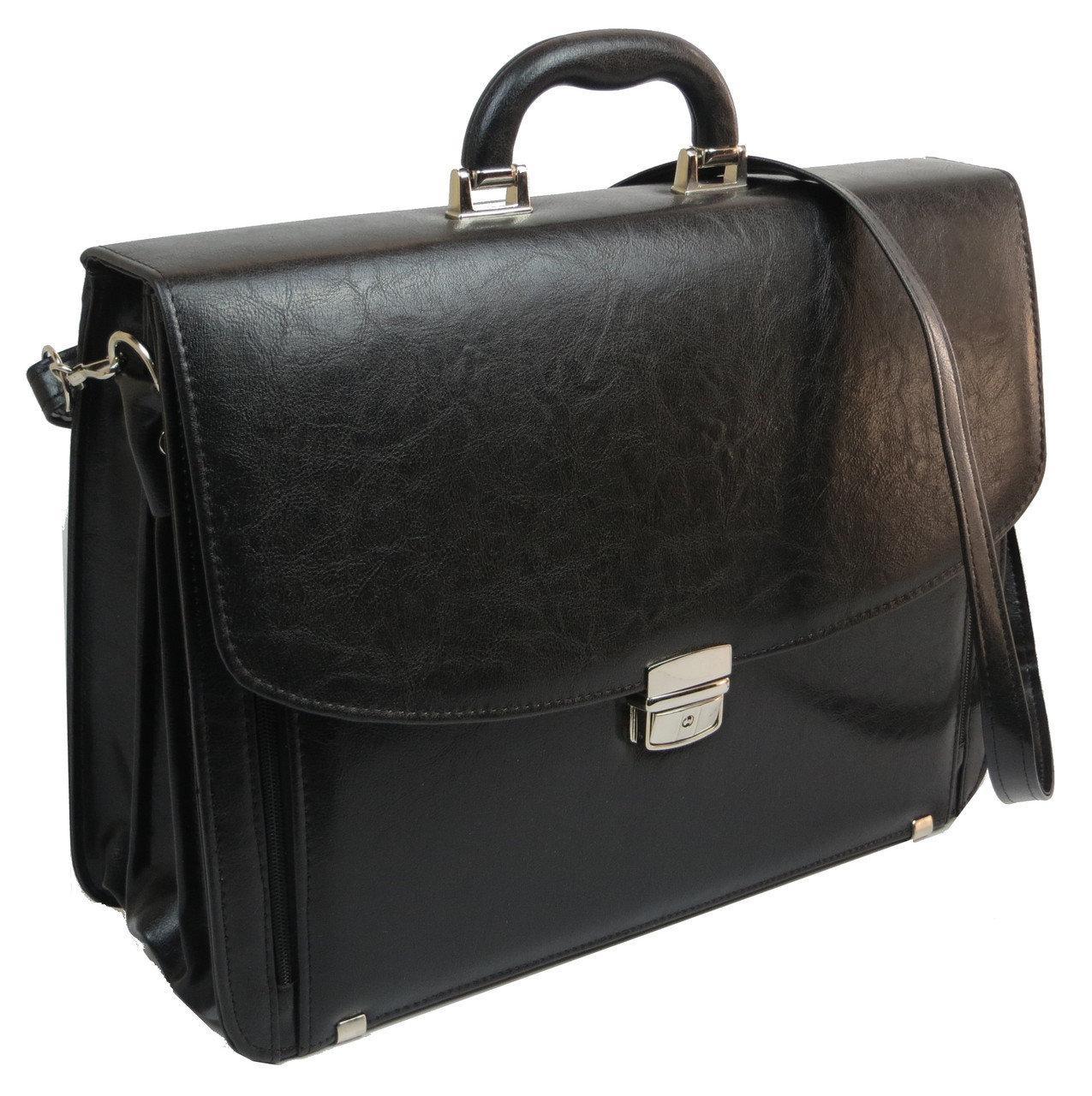 Большой деловой портфель из кожзаменителя TOMSKOR 81585