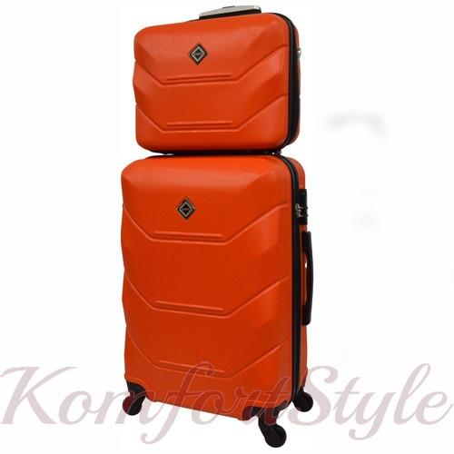 Комплект чемодан и кейс Bonro 2019 средний оранжевый (10501101)