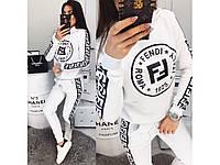 Модный женский спортивный костюм  Fendi