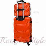 Комплект чемодан и кейс Bonro 2019 средний оранжевый (10501101), фото 2