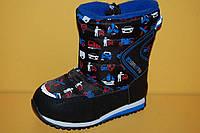 Детская зимняя обувь Том.М Китай 1532 Для мальчиков Черные размеры 23_28, фото 1