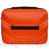 Комплект чемодан и кейс Bonro 2019 средний оранжевый (10501101), фото 7